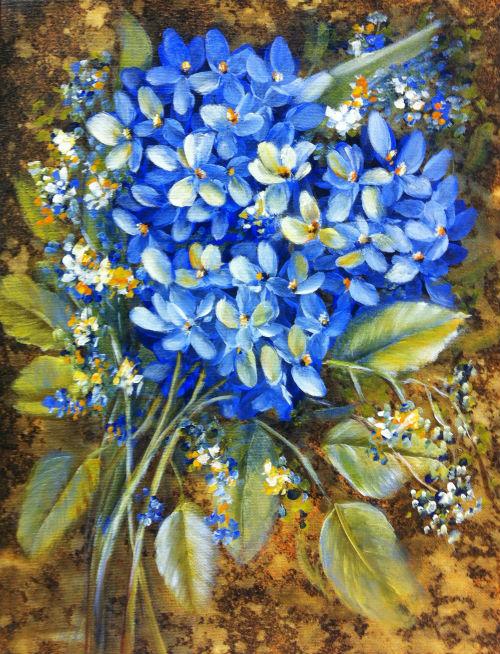flores azuis 500